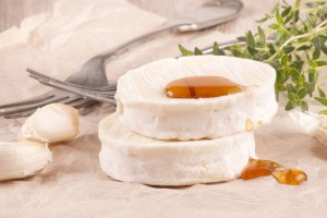 goat cheese with sweet honey
